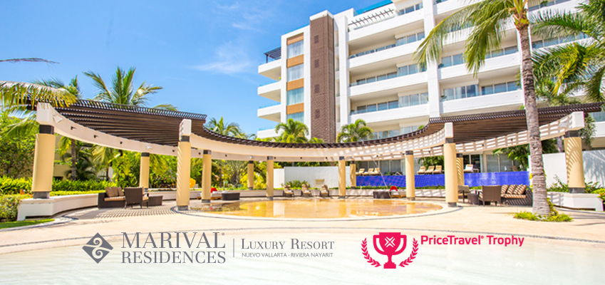 "Marival Residences Luxury Resort wins a PriceTravel Trophy in the category ""Luxury Hotel"""