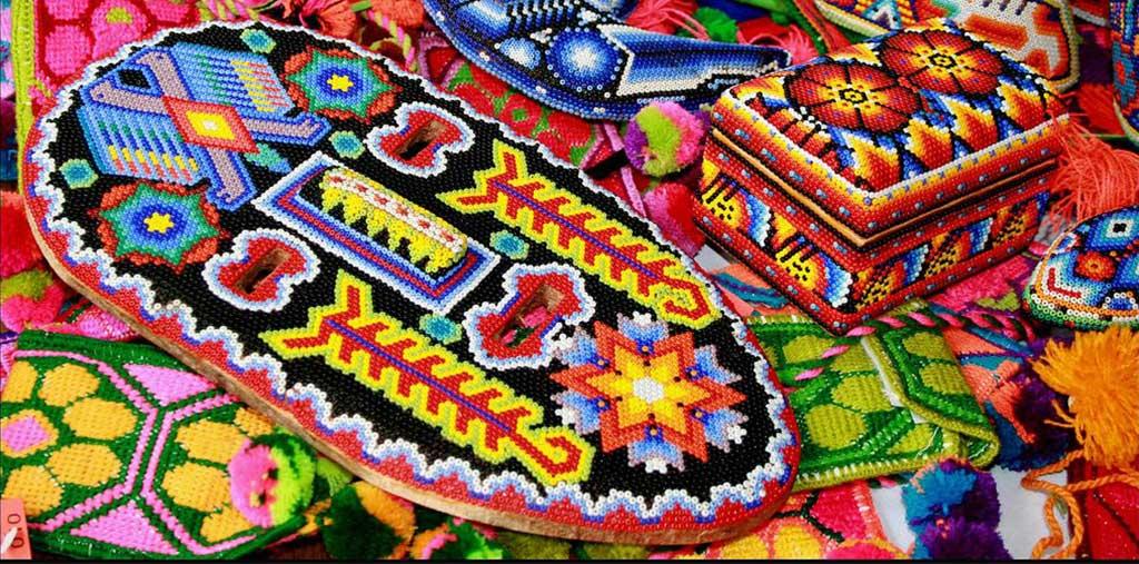 Nuevo Vallarta Huichol artwork