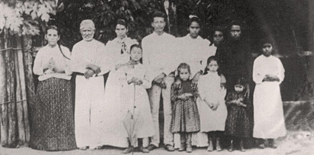 Guadalupe Sánchez y familia