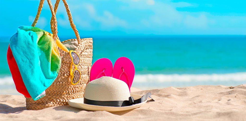 Beach vacation items