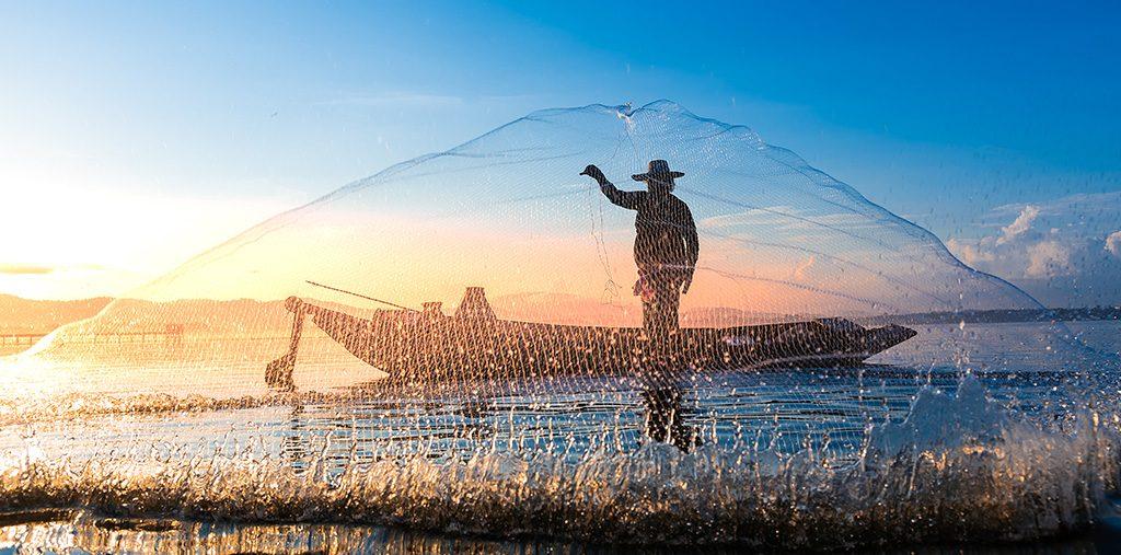 Pescador en Punta de Mita